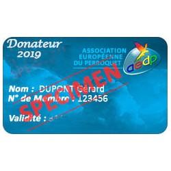 Cotisation Donteur 2019